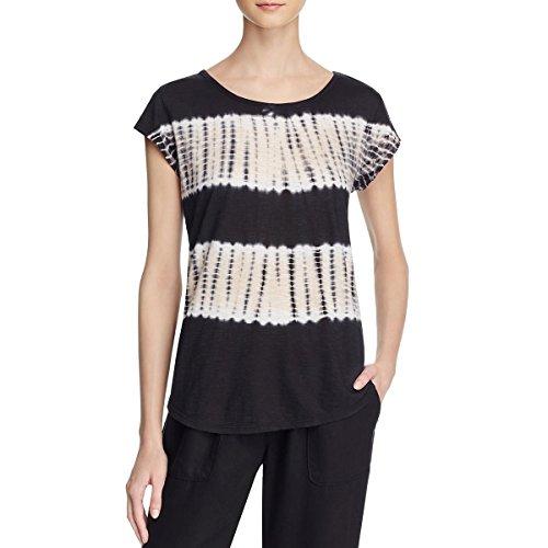 Soft Joie Womens Tie-Dye Slub Casual Top Black (Joie Cotton Tunic)