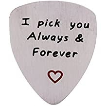 I Love You Always And Forever Guitar Pick, Musical Gift, Anniversary Date, Valentine's Day, Gift for Men