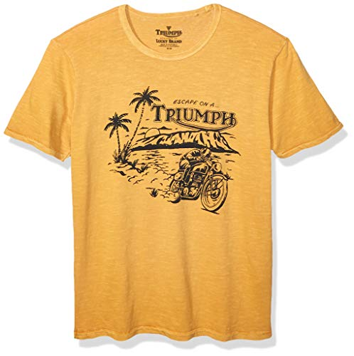 Lucky Brand Men's Triumph Escape TEE, Golden Yellow, XL