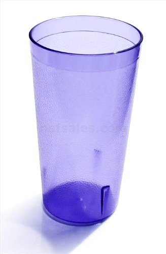 New Star Foodservice 46441 Tumbler Beverage Cups, Restaurant Quality, Plastic, 20 oz, Blue, Set of ()