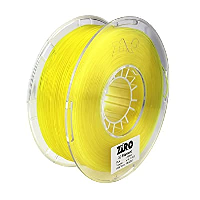 ZIRO 3D Printer Filament PLA 1.75 1KG(2.2lbs), Dimensional Accuracy +/- 0.05mm, Translucent Yellow