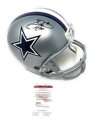 Emmitt Smith Dallas Cowboys Signed Autograph Full Size Helmet JSA Witnessed Certified