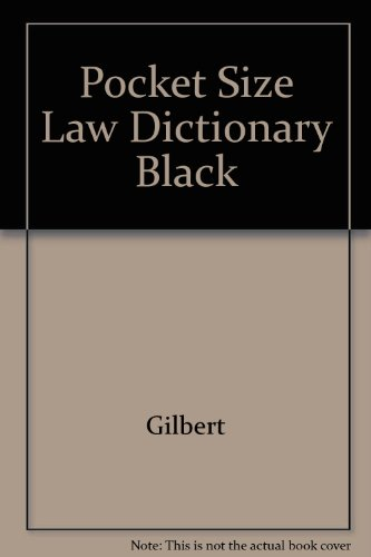 Pocket Size Law Dictionary Black