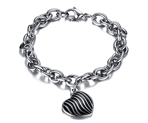 Europe and the influx of men personalized jewelry steel Epoxy 18 boys love bracelet bracelet male fashion gift