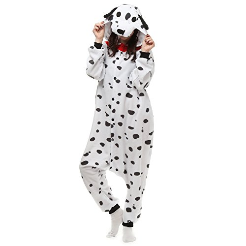 [VU ROUL Unisex Adults Costumes Kigurumi Onesie Dalmatians Size UK XL] (Pajamas Dance Costumes)
