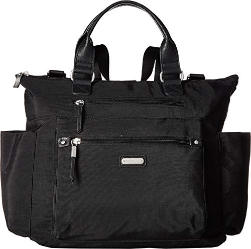 Baggallini 3-in-1 convertible backpack with RFID phone wristlet (Black) ()
