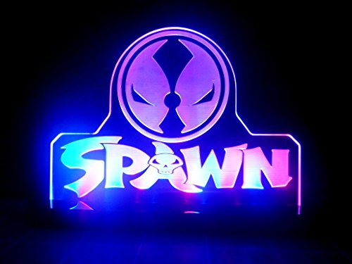 Spawn Costume Origin (Spawn Mavel Super Hero LED Night Light Desk Lamp Kids Room Game Comic)