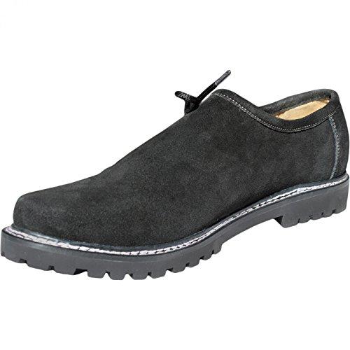 Trachtenschuhe Haferlschuhe echtem Leder Oktoberfest Schuhe Schwarz