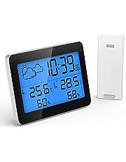 GlobaLink Thermomètre Hygromètre Numérique Thermo-hygromètre Multifonctionnel Électronique Mini Écran Digital Moniteur Jauges deTempérature Humidité Capteurs Intérieur Température sans Fil Alarme
