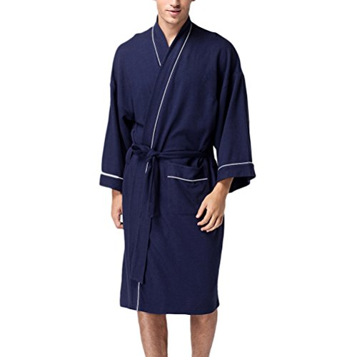 Zhhlaixing Womens Unisex Plus Size Cotton Super Soft Luxury Waffle Robes Batas Housecoat with Belts Nightwear Loungewear: Amazon.es: Ropa y accesorios