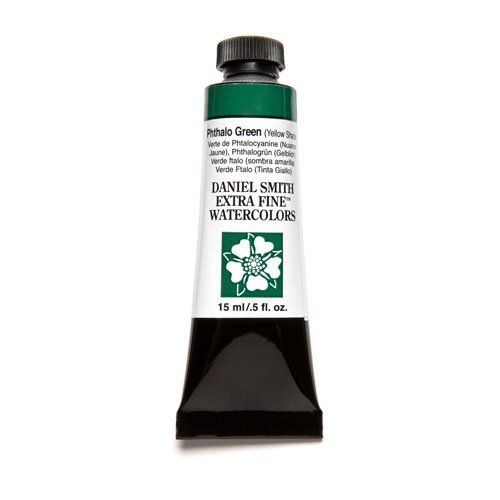 Daniel Smith Extra Fine Watercolor 15ml Paint Tube, Phthalo Green