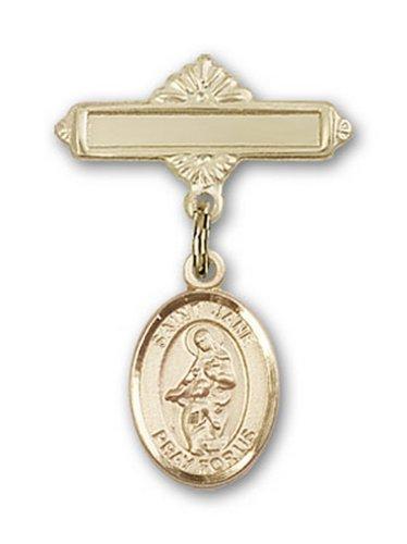 Icecarats Or Bijoux De Créateurs Rempli R. Jane De Charme Valois Broche De Badge 1 X 5/8