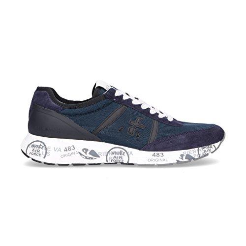 Premiata Mannen Hanzo2910 Blauwe Suède Sneakers