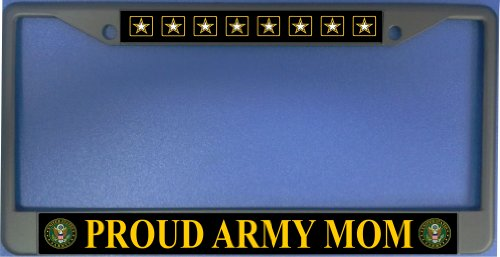 License Plate Frame Free Screw Caps with this Frame (Army Mom License Plate Frame)