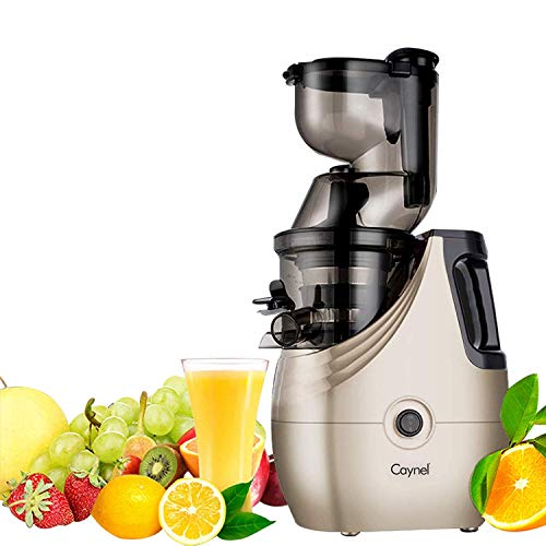 Slow Masticating Juicer Caynel Cold Press Extractor with 3'' Wide Chute for Fruits, Vegetables and Herbs, Quiet Durable Motor with Reverse Function, Smoothie Strainer Included, High Yield Vertical Juicer Easy Cleaning , BPA Free(Champagne) by CAYNEL (Image #6)