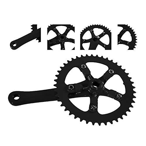 (zzpopGG Bicycle Crank Sprocket,Bike Chainring,44T Aluminum Alloy MTB Mountain Bike Bicycle Crankset Chainring Chain Wheel - Black )