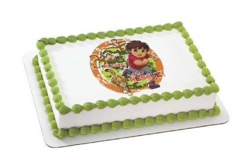 1/4 Sheet ~ Go Diego Go To the Rescue Birthday ~ Edible Image Cake/Cupcake Topper!!! -