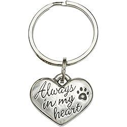 Rockin' Doggie Pewter Keychain, Always in My Heart