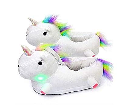 UMIPUBO Zapatillas Unicornio Mujer Suave Zapatos Animales Felpa Calentar Invierno de C/álido Pantuflas Animados Dibujos