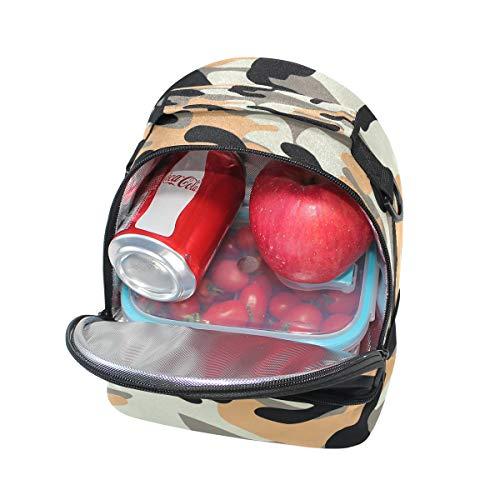 bandoulière avec Cooler l'école isotherme Tote à Motif Alinlo camouflage Sac à pour lunch Pincnic Boîte réglable vpqHCzw