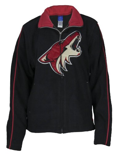 Phoenix Coyotes NHL Womens Black Fleece Jacket – DiZiSports Store