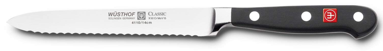 Wusthof Classic 4110 Serrated Utility Knife, 5 Inch by Wüsthof