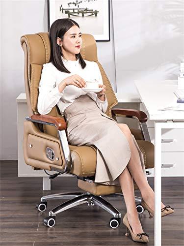 LYJBD stol kontorsstol med fotstöd tjock stoppning för komfort och ergonomisk design datorstol med justerbar höjd