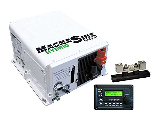 3000 Watt Pure Sine Wave Hybrid Magnum Inverter with Remote Charger and Fuse Block Package - Go Power! GP-MSH3012M-PKG