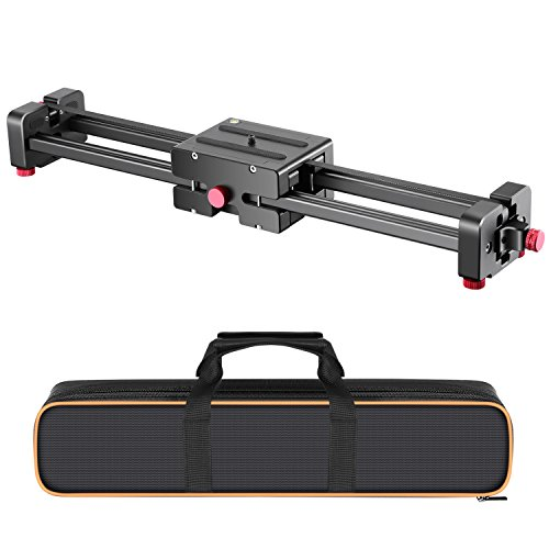 Neewer Camera Video Track Dolly Rail Slider Stabilizer Extendable From 20 to 40 inches/50 to 100 centimeters for Canon Nikon Sony and Other DSLR Camera, Camcorder, Load Up to 17.6 pounds/8 kilograms