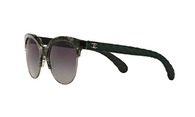 Chanel - Gafas de sol - para mujer verde verde: Amazon.es ...