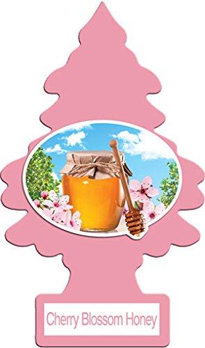 LITTLE TREES Car Air Freshener | Hanging Paper Tree for Home or Car | Cherry Blossom Honey | 12 Pack