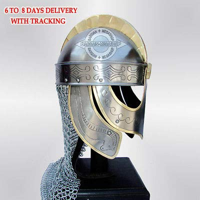 QUALITYMUSICSHOP Medieval Viking Helmet for Sale Winged Norman Armor Helm + Liner, Wearable ra39 -