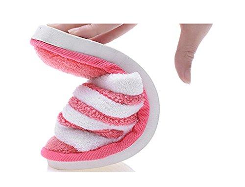 Slip Anti Accueil Coton Serviette Slippers pink prape Female en Matériel Pantoufles xnPBWZHqw