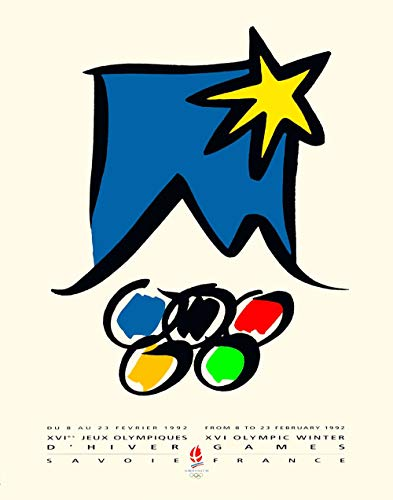"11""x14""Decoration Poster.France 1992 Olympic winter games.7703"