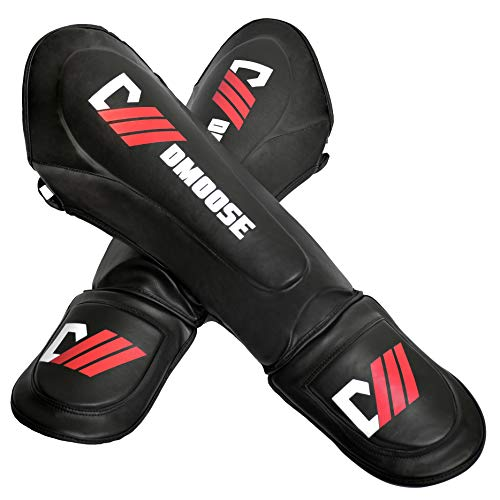 DMoose Sports Professional MMA Shin Guards for Training and Sparring, Muay Thai, Kickboxing, Karate, and Fight Gear, Reinforced Protection and Shock Resistant, Men and Women