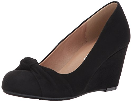 Women's Nerin CL by Laundry Chinese Black Wedge Suede Pump I6wtqOwa
