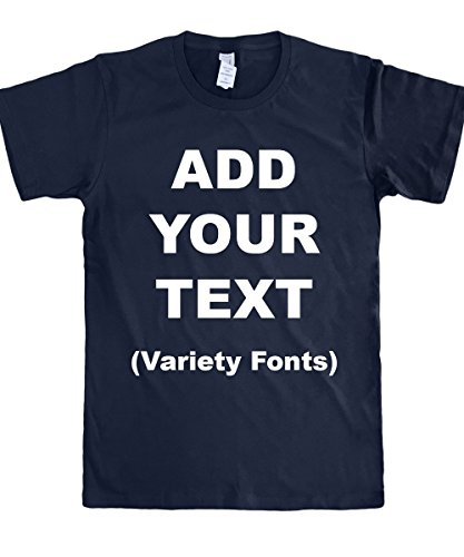 Custom T Shirts Ultra Soft Add Your Text for Men & Women Unisex Cotton T Shirt (Custom Made Fashion)