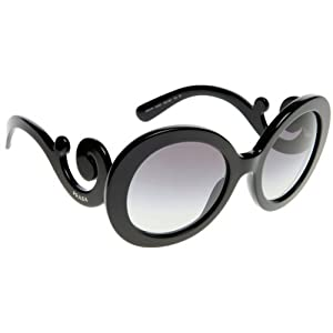 Prada Women's Round Sunglasses, Havana/Brown, One Size