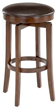 Hillsdale O shea 31 Backless Swivel Bar Stool in Brown Cherry