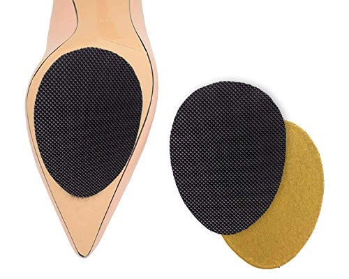 SUFOOT High Quality Adhesive Self-Adhesive Anti-Slip Stick Pad for Shoes Upgraded Skid Proof Sole Stick Protector (5 Pairs)