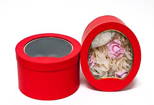 (Risewell Int Fl-W9404 red Oval Window Box)