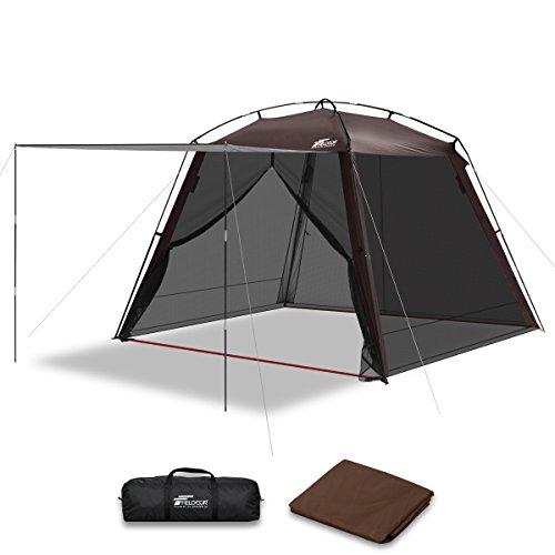 パンフレットサイトラインオアシスFIELDOOR スクリーンテント 3m メッシュスクリーン シェード 虫除け 蚊帳 キャンプ バーベキュー