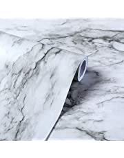 HIWOO Marble Contact Paper,Marble Wallpaper for Countertop