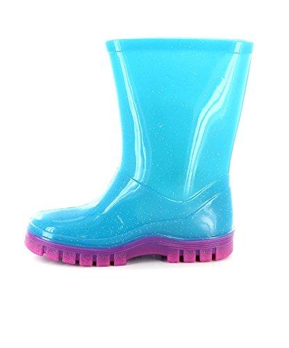 Frozen - Bottes de pluie La Reine Des Neiges pour fille avec logo Anna et Elsa sur le côté