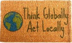 "UPC 694512045026, CocoMatsNMore Think Globally Design Coco Doormats - 18"" X 30"""