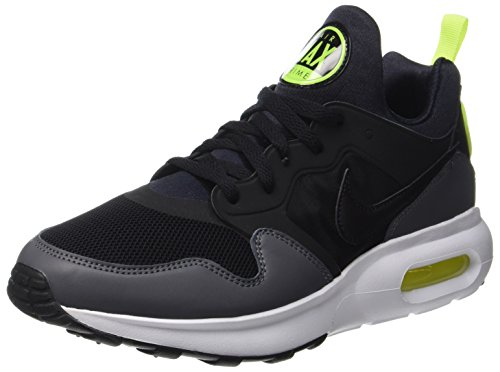 Nike Mens Air Max Prime Running Shoes Black Dark Grey Volt