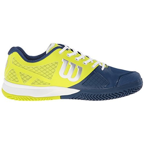 Wilson Rush Pro 2.0 Solar, Zapatillas de Tenis Unisex Adulto Lima / Verde / Blanco