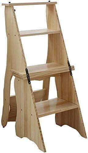 LYATW 4 Pasos Multifuncional Escabel, Madera Adulto Escalera Interior/ Escalera Plegable de Cocina (Color : #2): Amazon.es: Hogar