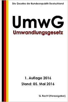 Descargar Novelas Torrent Umwandlungsgesetz - Umwg, 1. Auflage 2016 Documento PDF