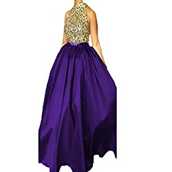 Crystal Beading Two Pieces Prom Dress